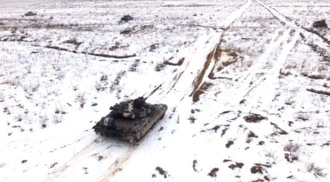Військові танкові навчання провели на Чернігівщині