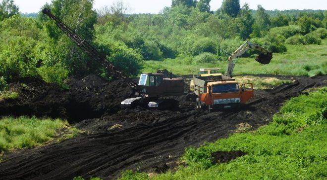 На болотах поблизу Смолина на Чернігівщині гудуть трактори