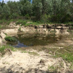 Неподалік річки Десна незаконно добували пісок