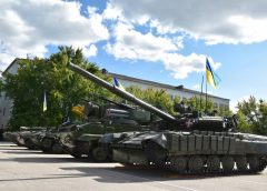 На Чернігівщині ось так вітали танкістів