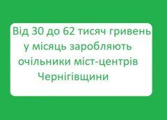 Як і скільки заробляють грошей мери міст на Чернігівщині